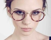 Deadstock Vintage Clear Fashion Glasses with Tortoise Shell Rims