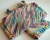Dishcloth Knit Multicolored Set of 2