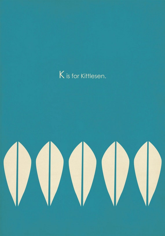 ABC's of MCM K is for Kittlesen Cathrineholm Print