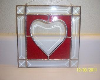 BEVELED HEART PANEL - medium