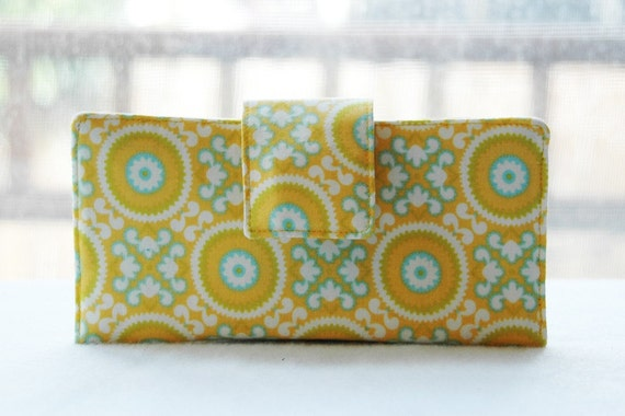 Wallet clutch womens   Handmade wallet Yellow  delight