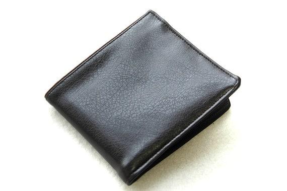 Mens handmade wallet billfold faux leather