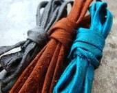Columbian Mix Charcoal Rust Teal hand woven dupioni silk cording