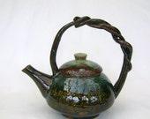 Flower Carved Teapot
