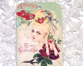 Romantic French Valentine Vintage Marie Style Set of 6 Ballgowns Tea Hearts And Flowers