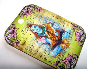 Hindu God Tags  - Set Of 9 - Hindu Goddesses - Gift Tags - Hindu Pantheon - Collage Style - Spiritual Tags - Thank Yous - Exotic Tags