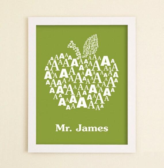 Male Teacher Gift Teacher Appreciation Personalized Classroom Signs Elementary Daycare Preschool Holiday Teacher Gift Idea