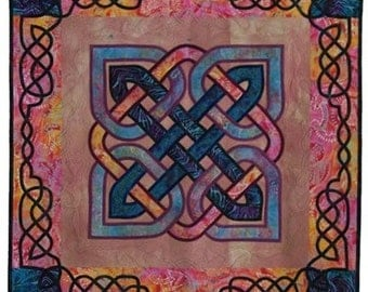Handmade Quilted Wall Hanging, Celtic Knotwork Quilt