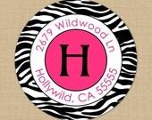 Wild Side (Zebra) - Custom Address Labels or Stickers