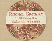 Faded Paisley - Custom Address Labels or Stickers