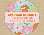 Pastel Flowers - Custom Address Labels or Stickers