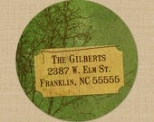 Green Trees - Custom Address Labels or Stickers