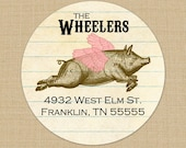 When Pigs Fly Custom Address Labels or Stickers