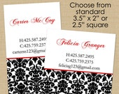 Classic Damask - 50 Custom Business or Calling Cards