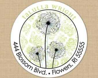 Dandy Dandelion - Custom Address Labels or Stickers