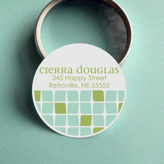 Cierra (Mod Cubes) - 50 CUSTOMIZABLE Calling Cards/ Business Cards/ Tags in Tin