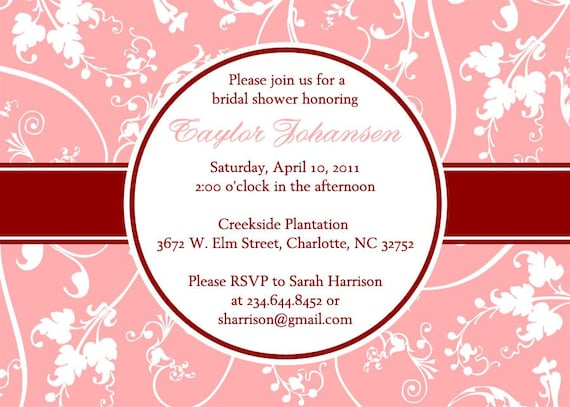 Modern Floral - PRINTABLE Custom Bridal or Baby Shower or Party Invitation