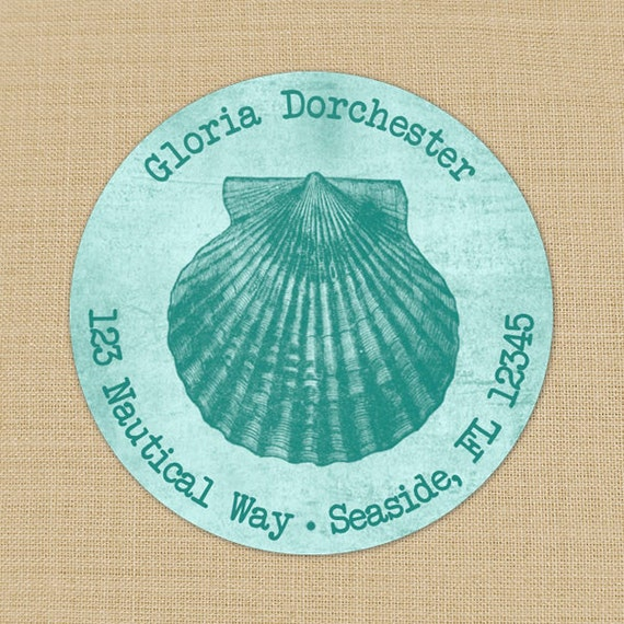 Seaside Collection (Scallop Shell) - Custom Address Labels or Stickers