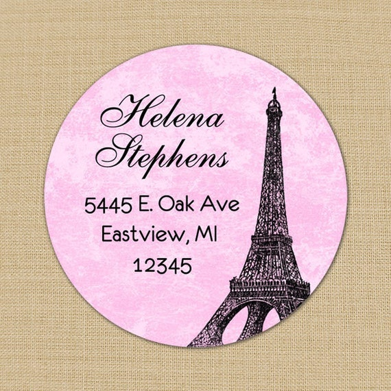 Shabby & Distressed Eiffel Tower Custom Address Labels or Stickers