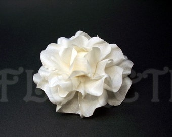 Antique White Gardenia Small Bridal Hair Clip Accessory
