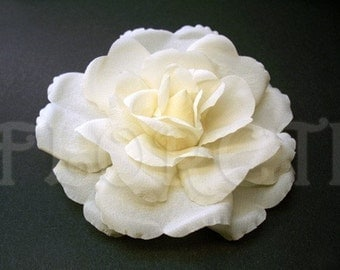 Ivory Silk Bridal Hair Flower Accessory Rochelle Rose -Ready Made