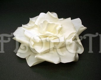 Snow Bride Ivory Rose Wedding Dress Pin Large Bridal Hair Flower