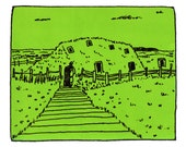 L'Anse aux Meadows Screenprint