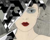 "Kuedo II art print by Anna Higgie Illustration 18.5"" x 16"""