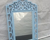 Wall Mirror/Chalkboard Baby Nursery Shabby Chic Upcycled Vintage Ornate Wall Mirror and Chalkboard 2 in 1