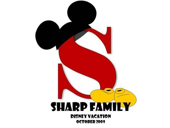 Monogrammed Disney Vacation Shirt