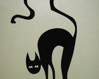 Halloween Black Cat- Vinyl Wall Art