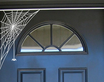 Halloween Spooky Spiderweb- Vinyl Wall Art