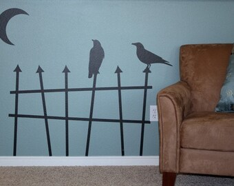 Halloween Crows- Vinyl Wall Art