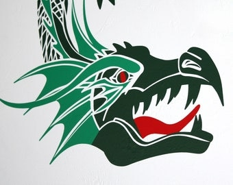 DRAGON Vinyl Wall Decal- 4 Colors