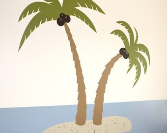 Palm Trees in Paradise- Vinyl Wall Decal