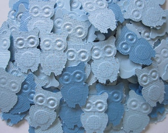Something Blue  50 pc Blues Paper Owls          Confetti for a Baby Shower