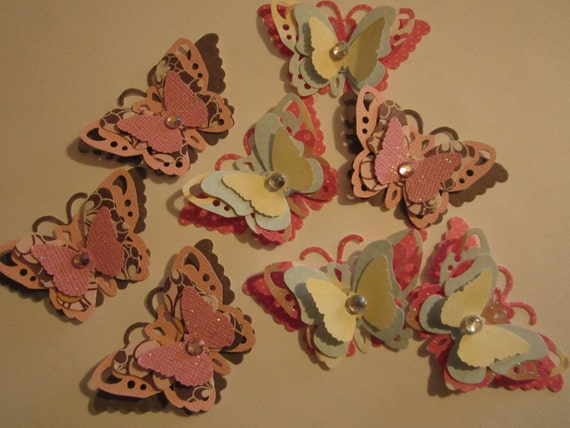 Custom Order for Elisabeth  10 pc Paper Butterflies
