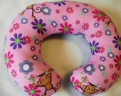 Monkey Flowers-Baby-Toddler-Childrens Neck Car Seat Travel Pillow-Closing Shop Sale