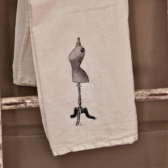 Dress Form or Mannequin Flour Sack Towel
