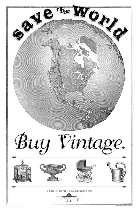 Save the World- Buy Vintage Poster