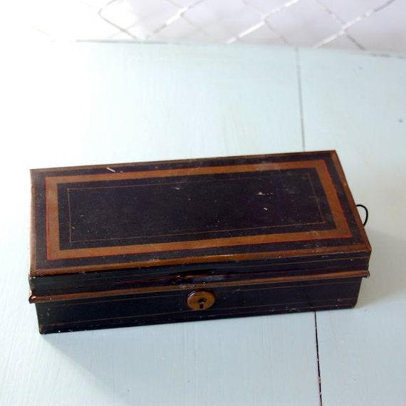 Vintage Black Banker's Box