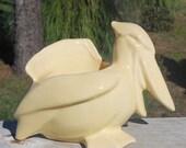 Vintage Nelson McCoy Yellow Pelican Planter