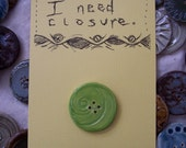 Circles Button in Lime Green