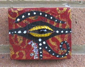 Original Painting ~ Bottle Cap Eye of Horus