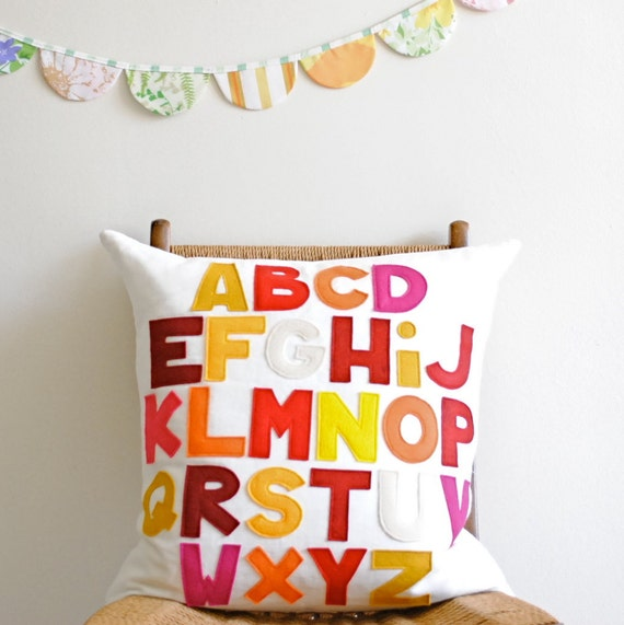 Classic Abc Alphabet Pillow by Pillow Factory