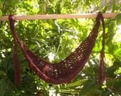 Crocheted BROWN Baby Hammock   Photo Prop Only   Ready to ship
