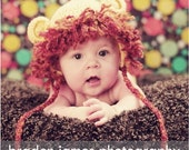 Crocheted Baby Lion Hat