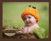 SALE  Crocheted Baby Halloween/Fall Pumpkin Hat      Ready to Ship