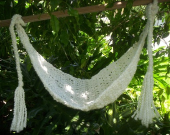 Crocheted Baby Hammock Photo Prop Only SUPER SOFT Ready to ship White