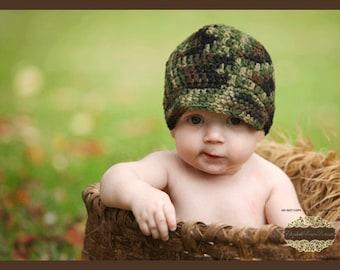 Crocheted CAMO Brim hat
